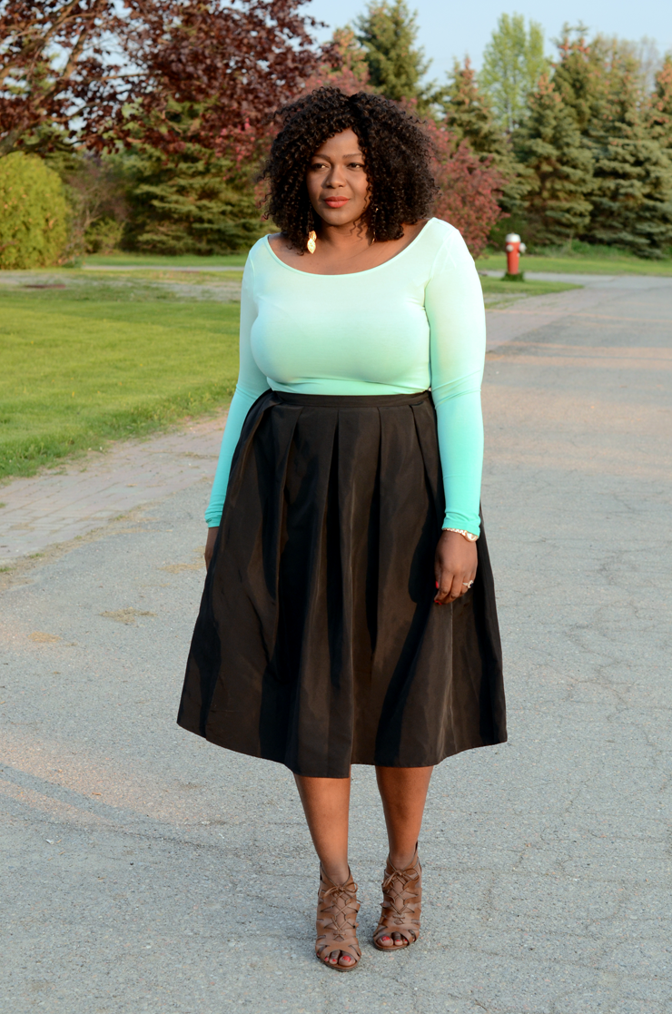 Fashion Guide: How To Use Midi Skirt Plus Size