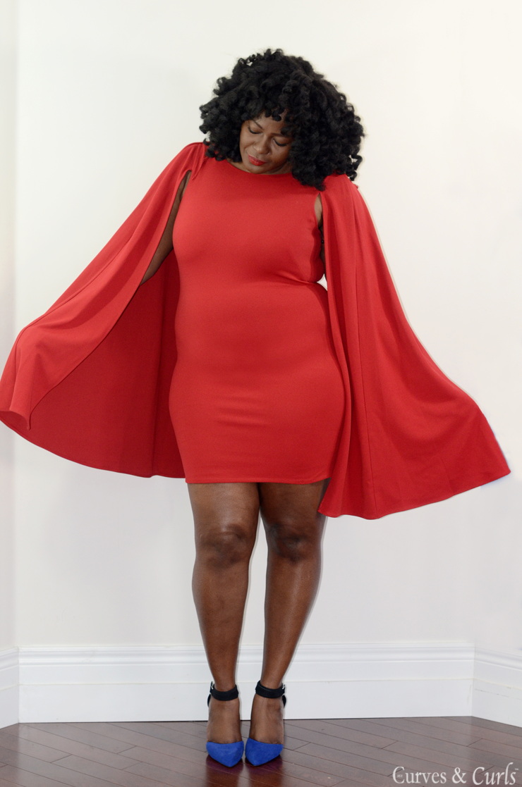 Plus Size Cape Dress My Curves And Curls