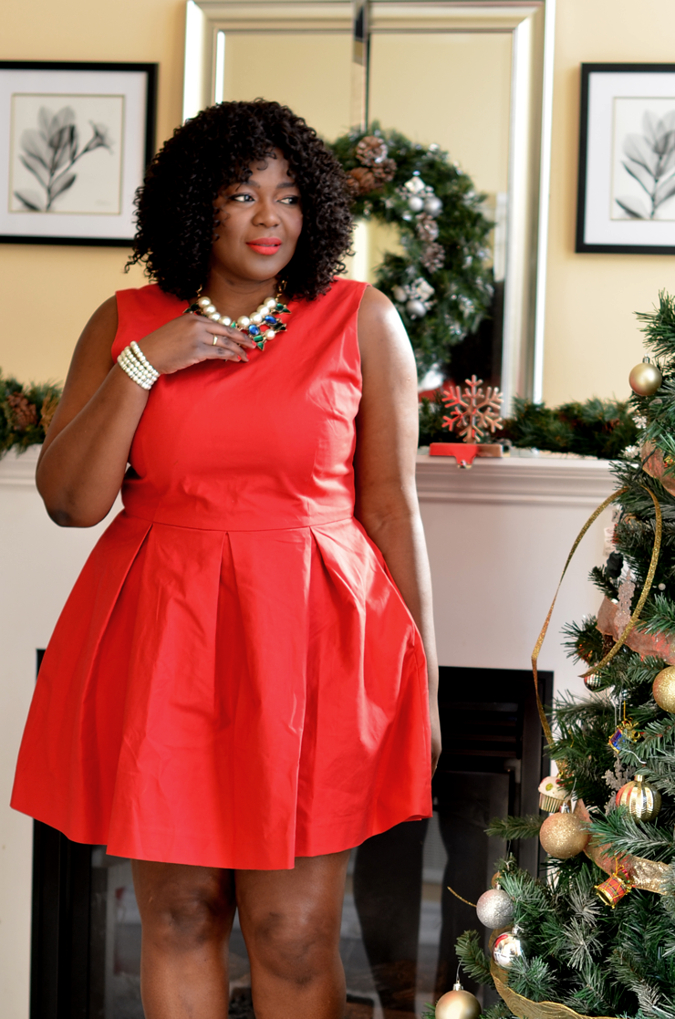 the perfect fit and flare dress to wear this christmas and beyond
