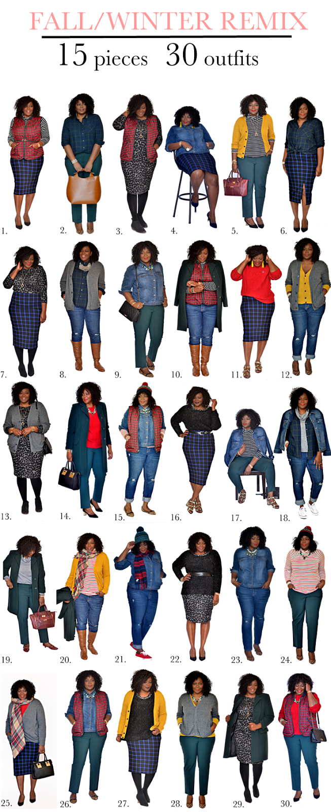 How To Wear 15 Pieces 30 Different Ways My Curves And Curls
