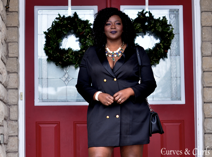 THE TUXEDO DRESS | My Curves And Curls