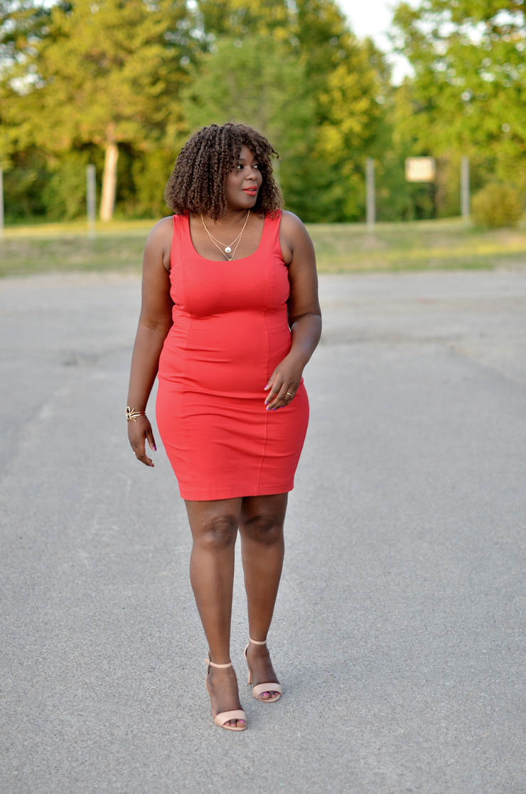 Little Red Dress plus-size-red-bodycon-dress5-le-chateau-mycurvesandcurls