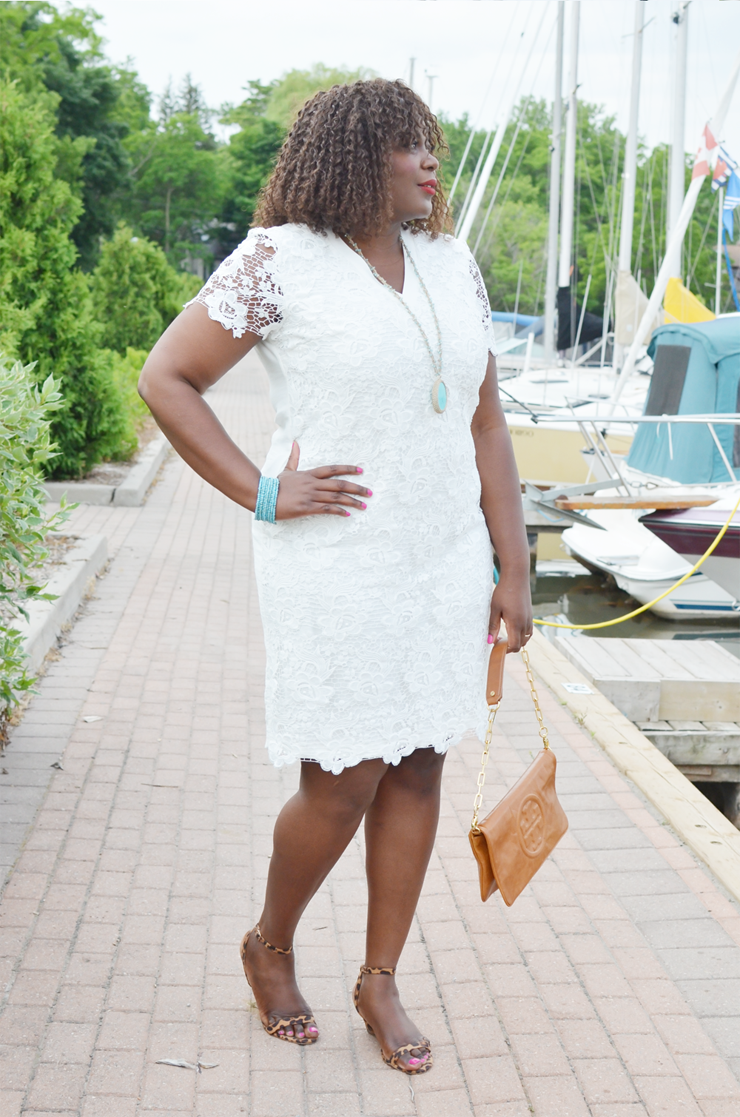 The perfect plus size white lace dress Gorgeous for a rehearsal dinner