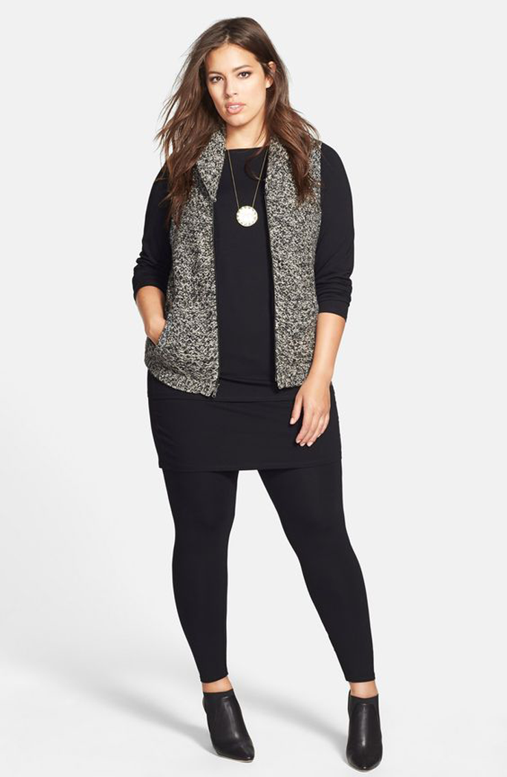 Fall wardrobe essentials-how to wear leggings-plus size