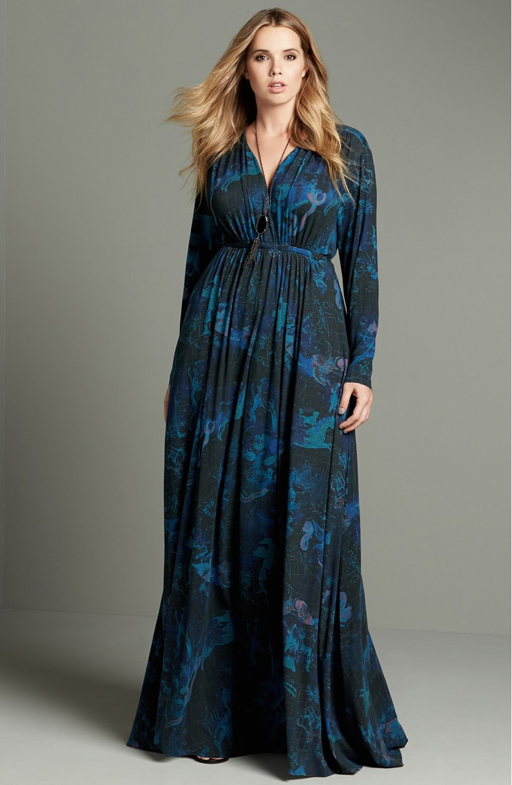 plus size autumn dresses-Beautiful long-sleeves-maxi-dress-fall-favorite