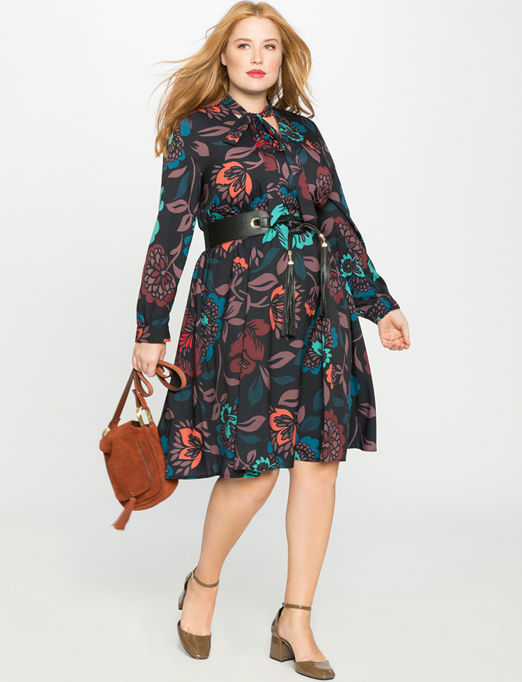 Plus-size-fall-dresses-floral-dresses