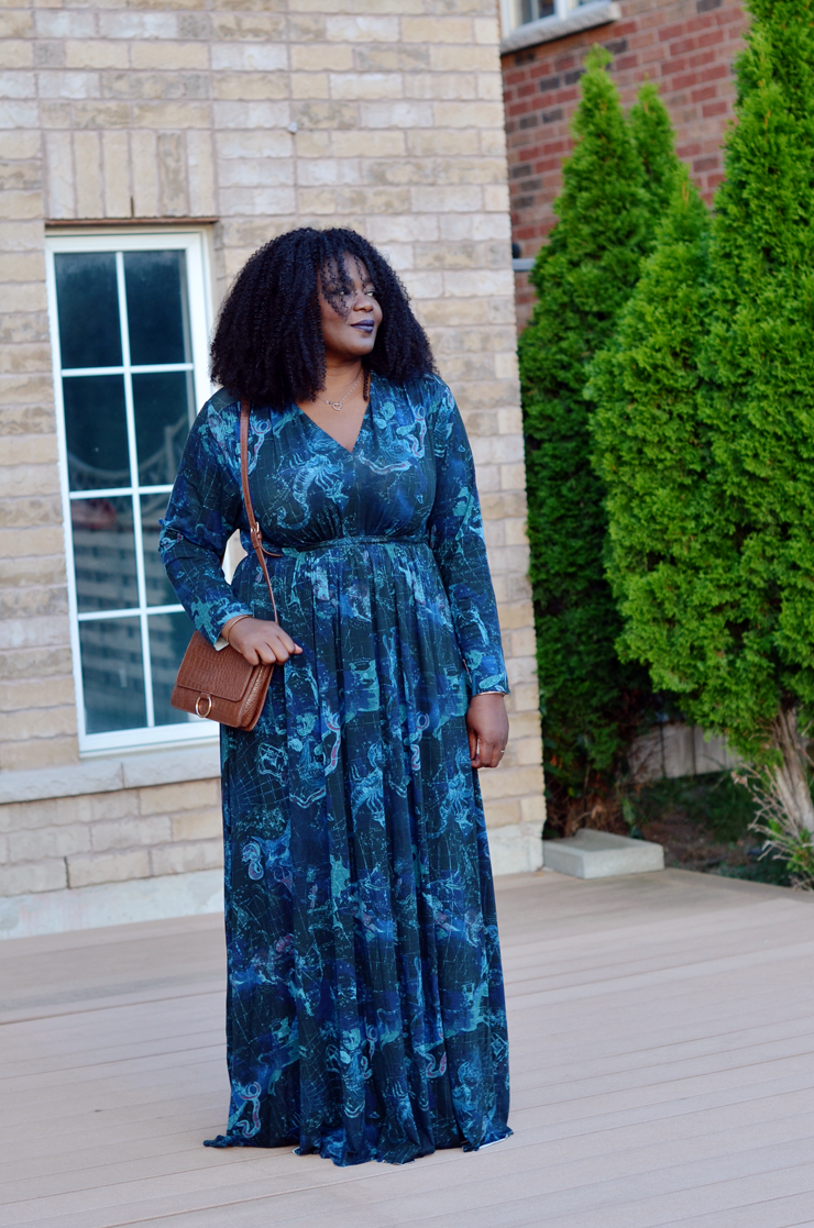 Plus Size Maxi Dress perfect for fall
