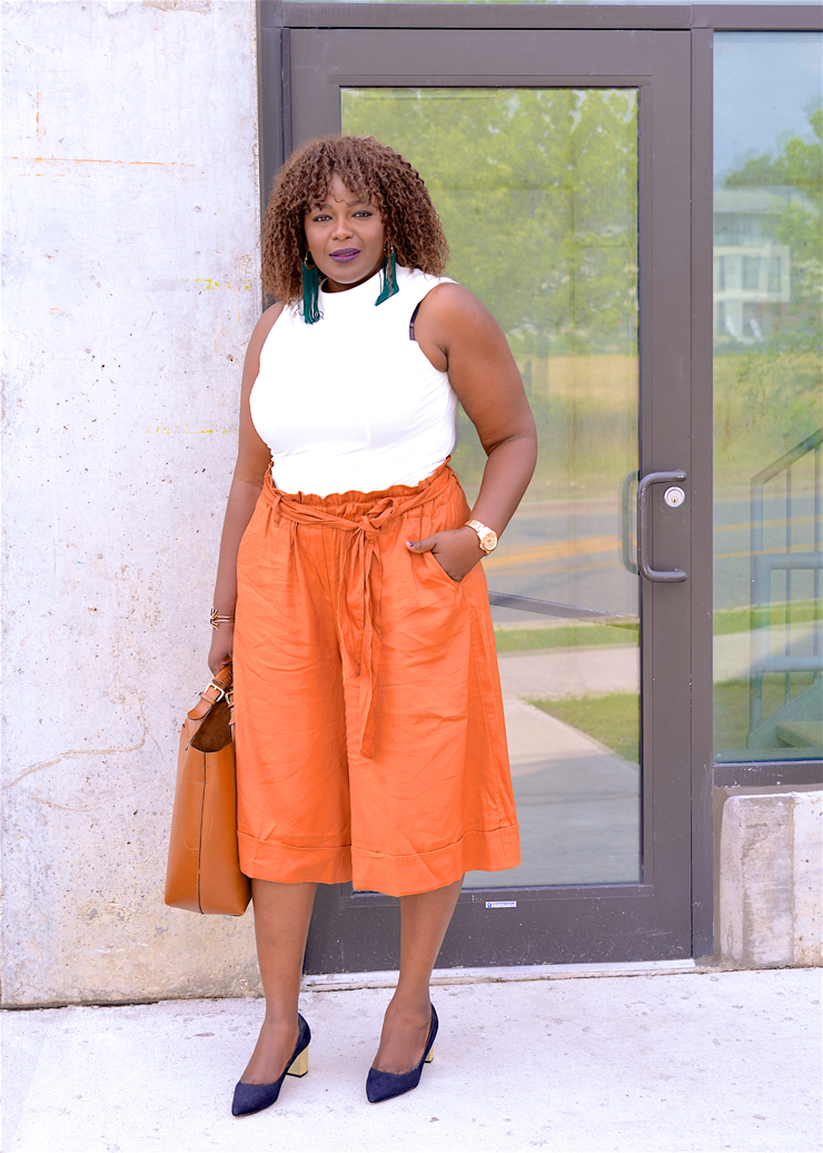 Culotte pants- how to wear them - plus size