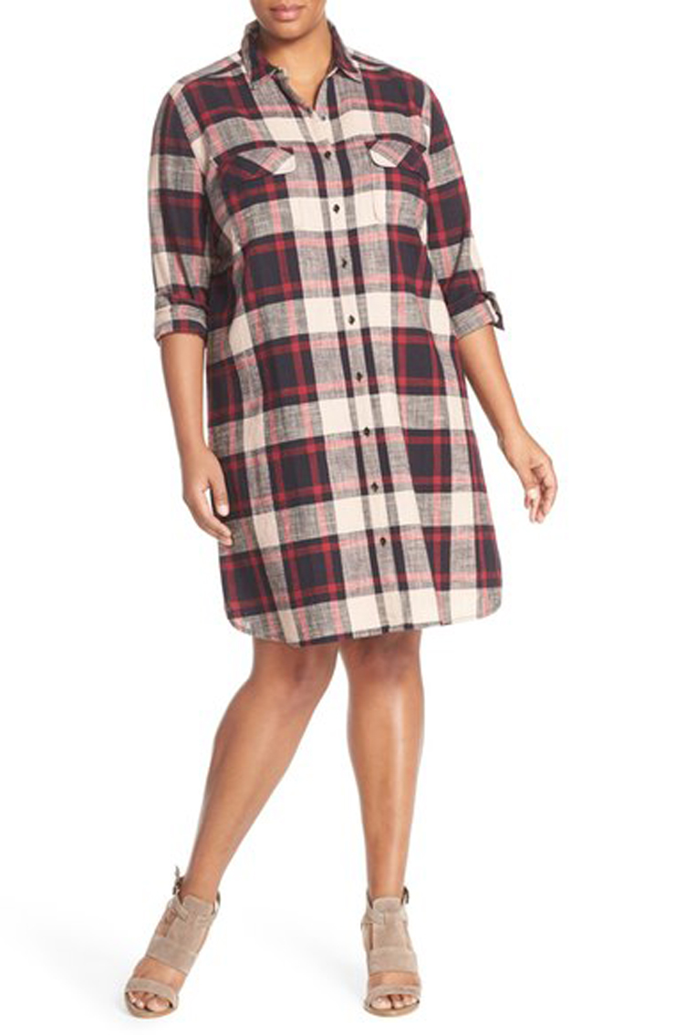 plus-size-flannel-dress-fallfashion