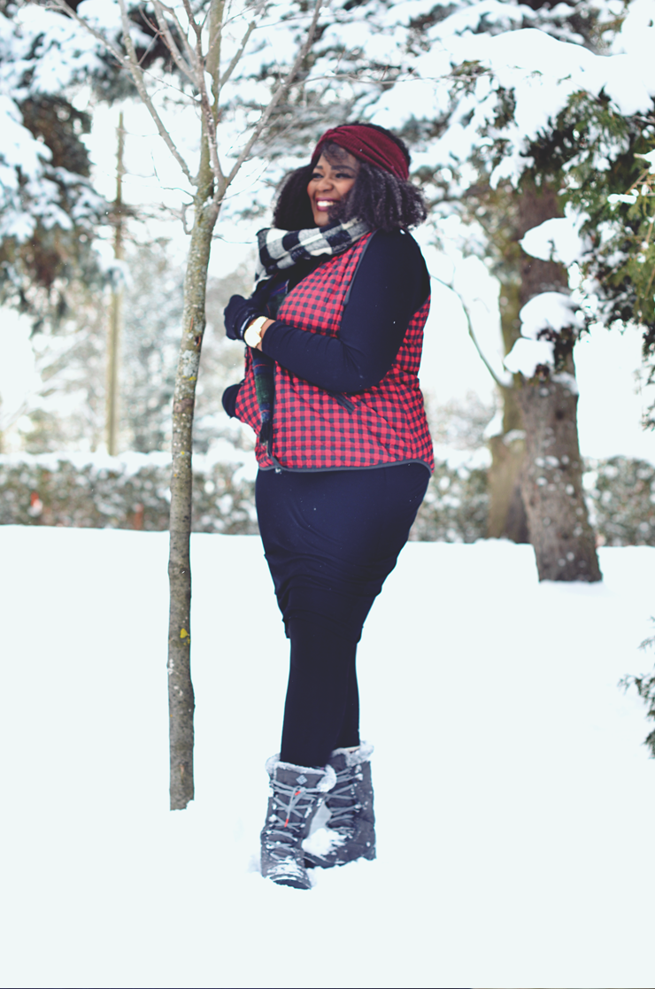 Snow day outfit ideas- Plus size www.mycurvesandcurls.com