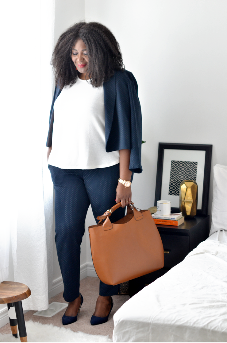 PLus size workwear idea- Suit from Primaala a toronto based plus size boutique