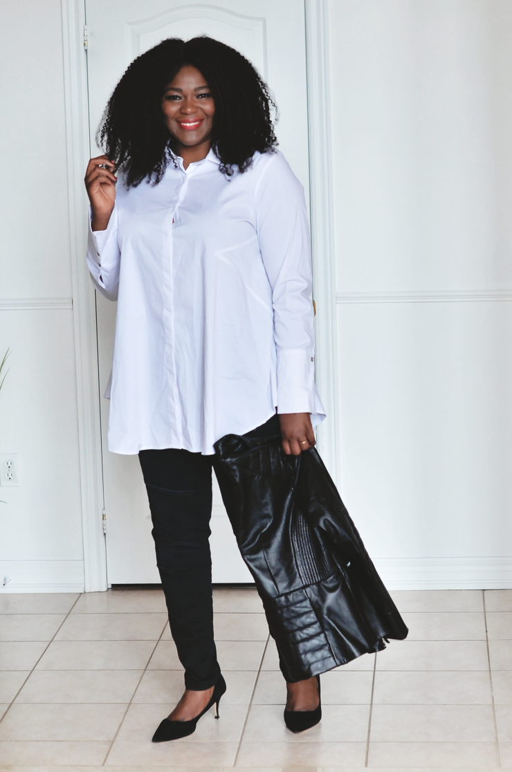 Assa Cisse -How to build a minimalist wardrobe ? see more on mycurvesandcurls.com