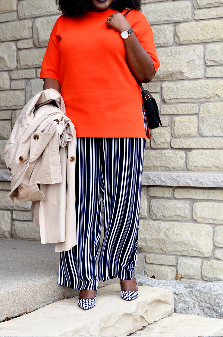 How to wear your wide leg pants this spring- mycurvesandcurls.com
