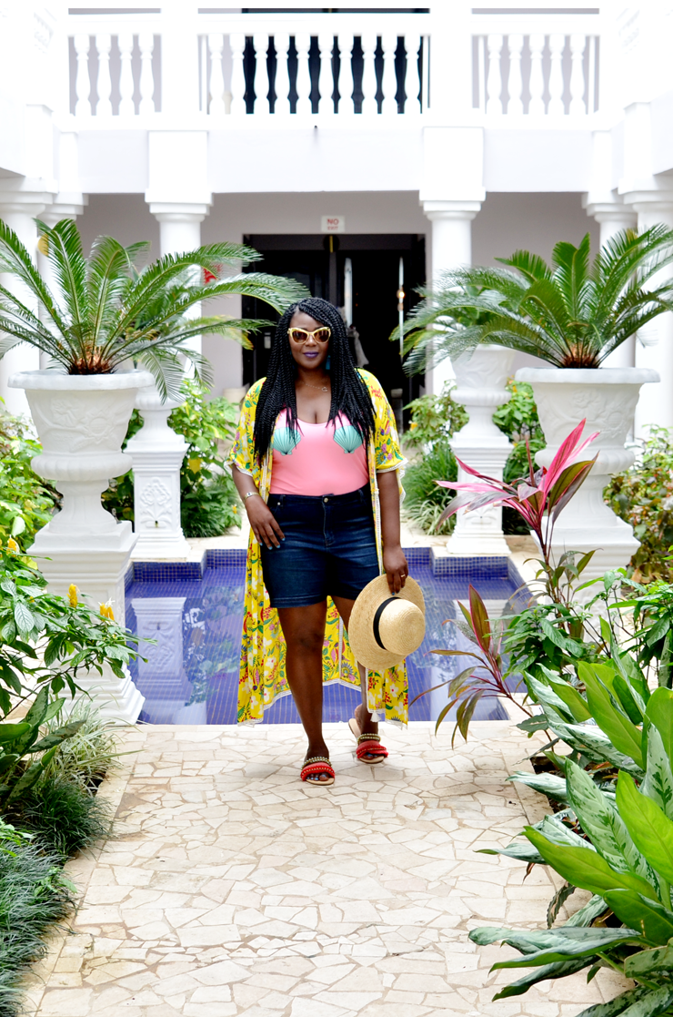 how to wear Floral Kimono- My Curves and curls Jamaica