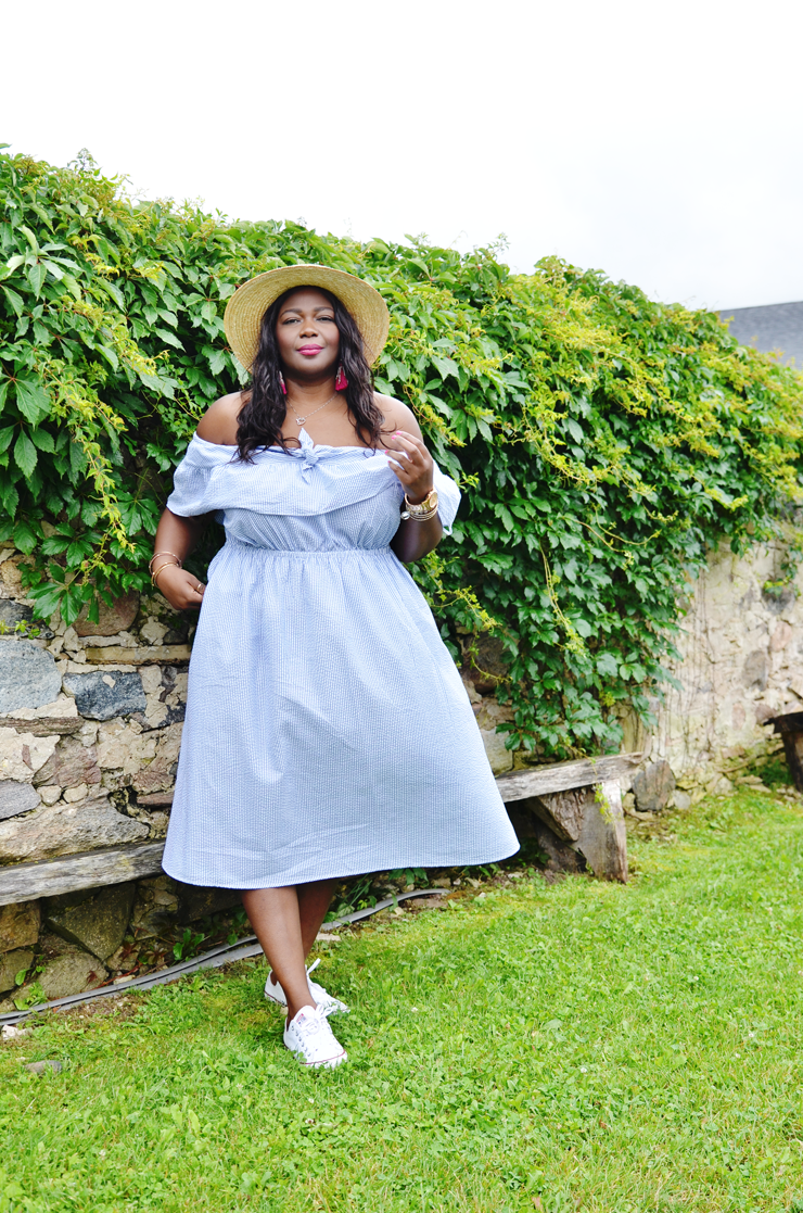what to wear to a winery plus size Mycurvesandcurls.com Assa Cisse