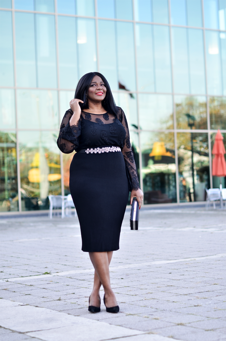 what to wear to a holiday party-plus size -Assa cisse Mycurvesandcurls.com