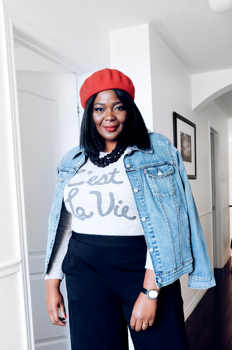 how to wear culottes in the winter -Assa Cisse -