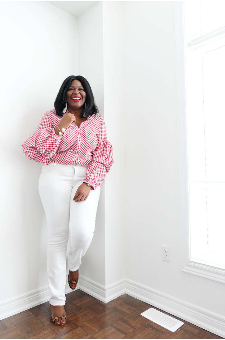 5 Places To Buy Affordable Plus Size Clothing In Canada Gingham Top And White Denim