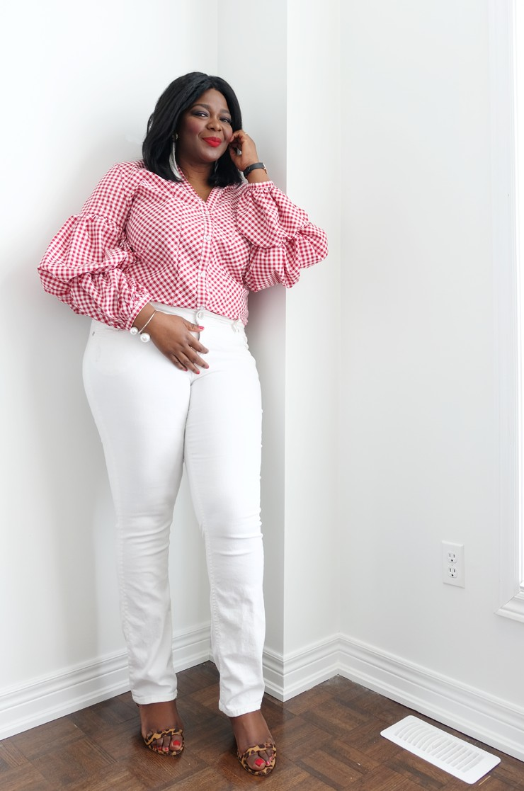 b4b6cde745b35 5 places to buy Affordable plus size clothing in Canada- Gingham top-