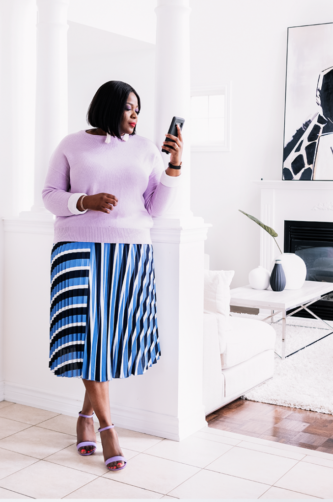 How To Wear A Pleated Skirt Plus size | My Curves And Curls